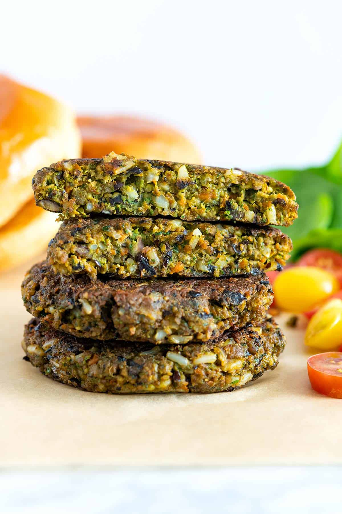 Veggie burger patties