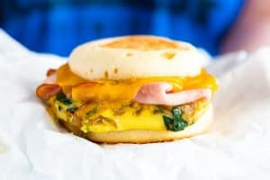 Make Ahead Ham and Veggie Breakfast Sandwich Recipe
