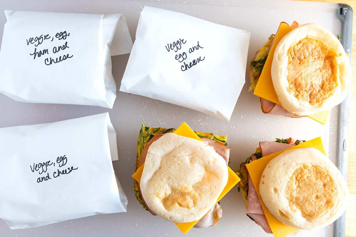 How to make tasty breakfast sandwiches that can be kept in your refrigerator up to 5 days.