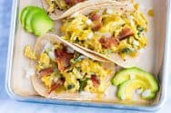 Easy Breakfast Tacos Recipe with Potatoes and Peppers