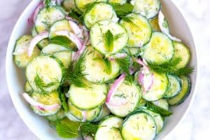 Creamy Tzatziki Cucumber Salad with Greek Yogurt