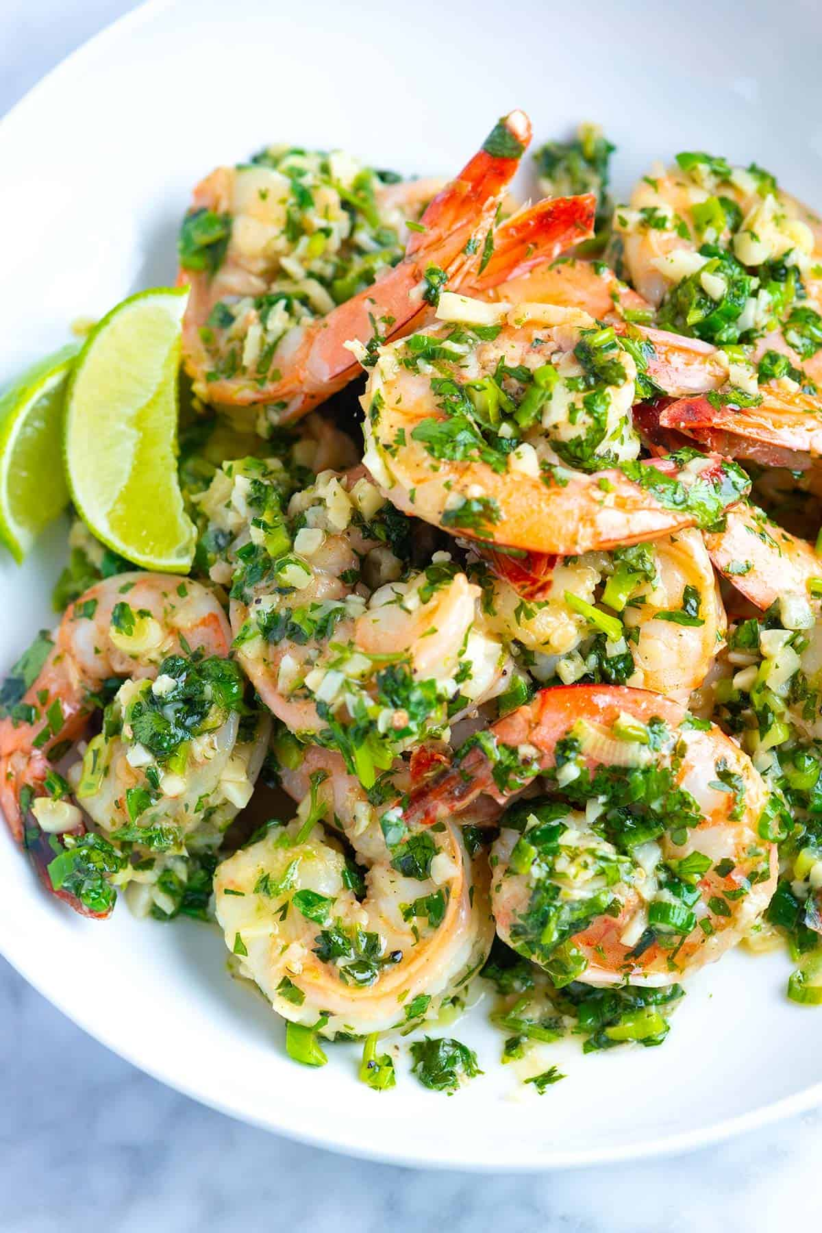 These garlicky, buttery shrimp come together in under 20 minutes. Inspired by traditional shrimp scampi, we swap lemon for lime and parsley for cilantro.