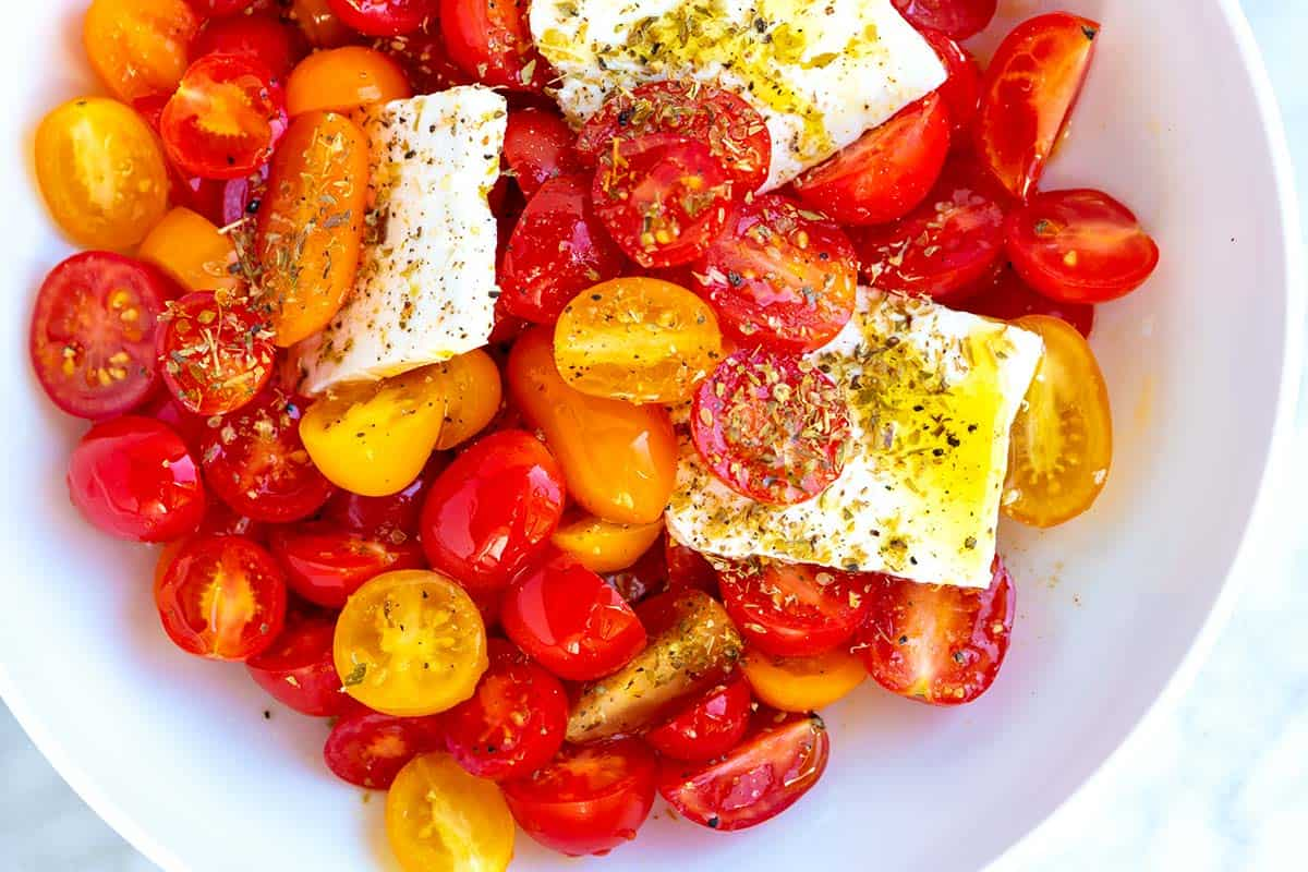 Easy Cherry Tomato and Feta Salad Recipe