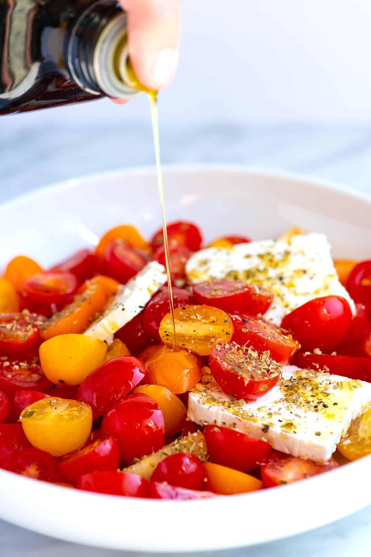 Easy Cherry Tomato and Feta Salad