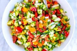 Chopped Tomato, Onion and Cucumber Salad Recipe