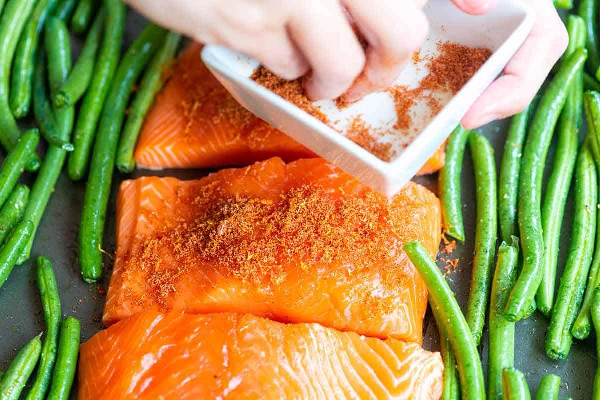 Add Brown Sugar Spice Rub to Salmon