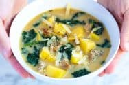 Easy Sausage Potato Soup Recipe