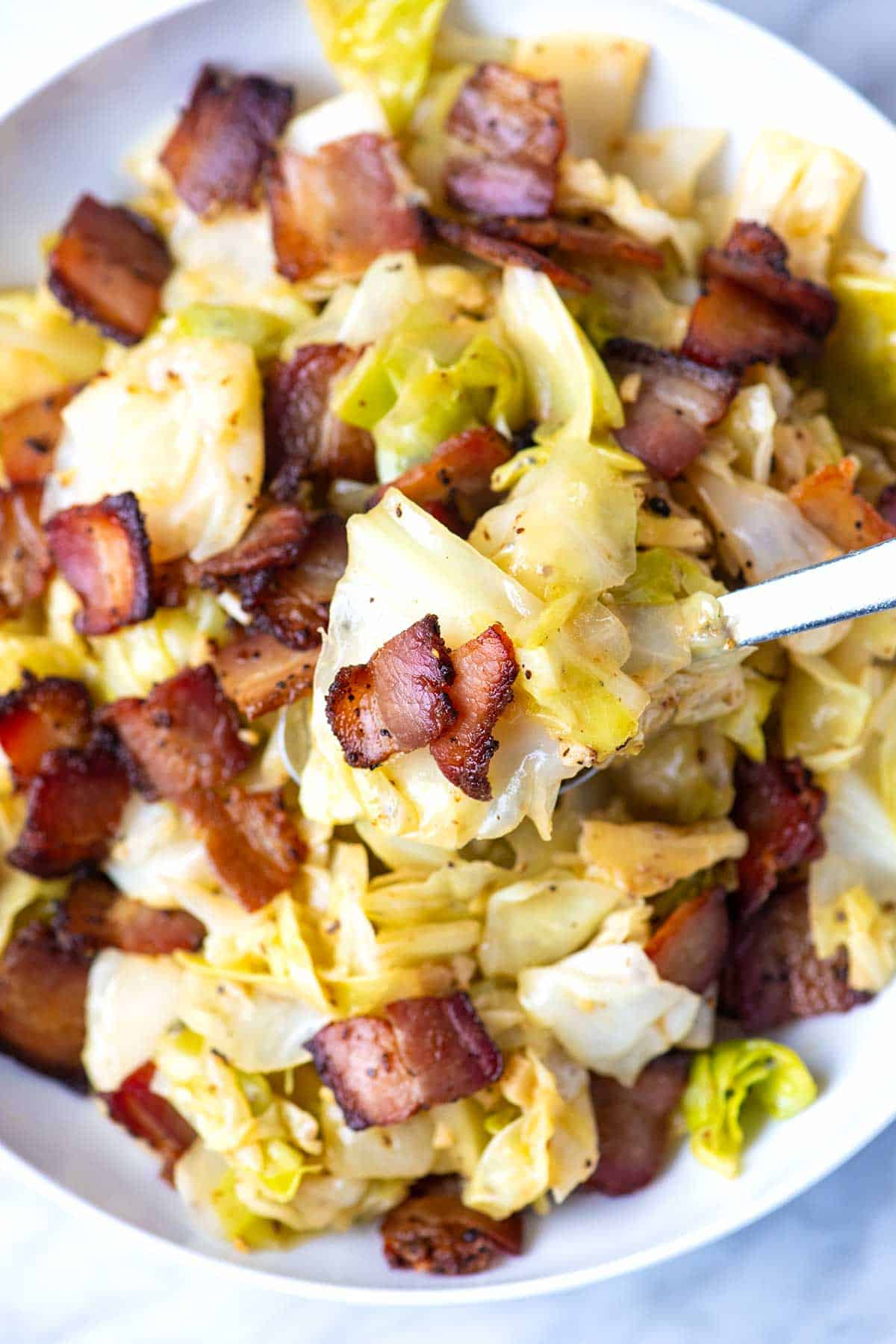 Best Bacon Fried Cabbage