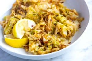 Easy Lemon Garlic Sauteed Cabbage Recipe