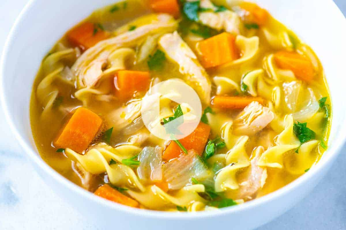 Ultra Satisfying Homemade Chicken Noodle Soup Recipe