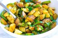 Garlic Butter Sauteed Zucchini Recipe