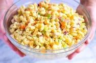 Creamy Macaroni Pasta Salad Recipe