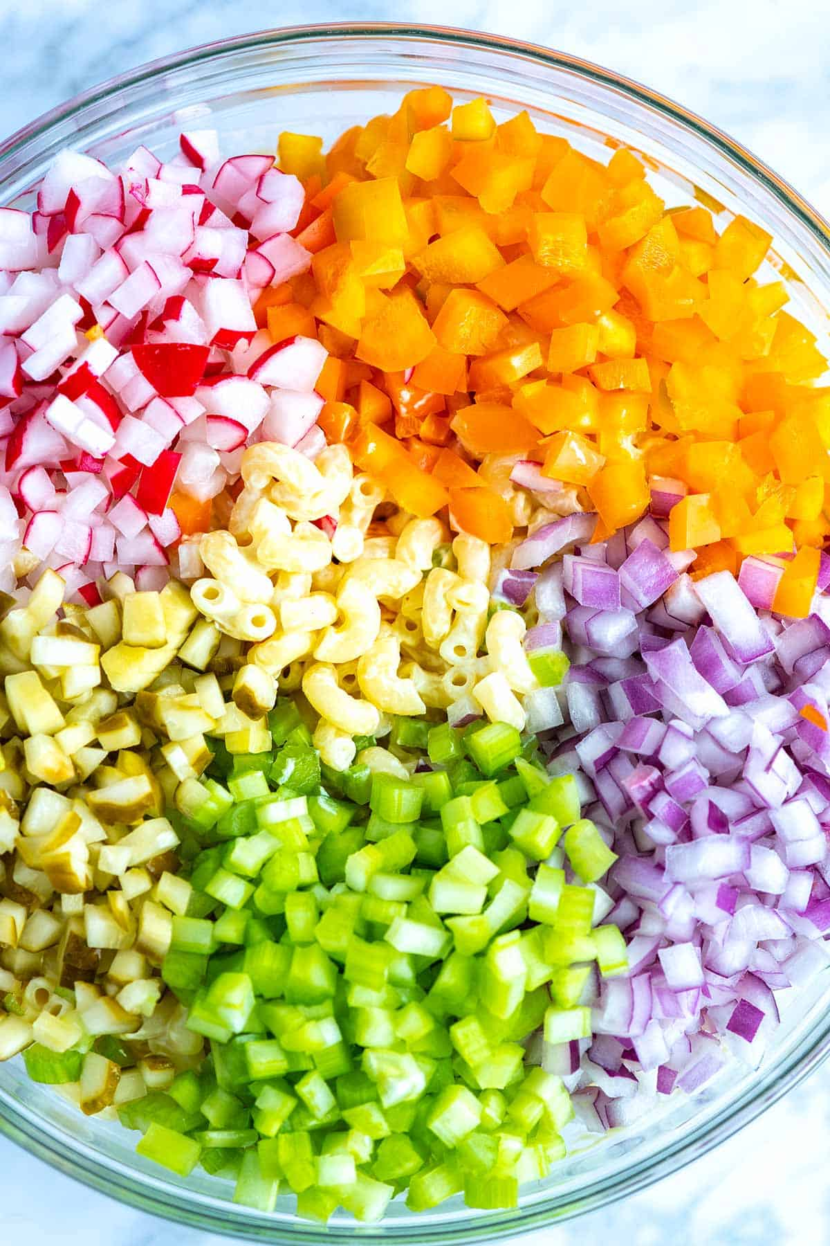 Ingredients for a Creamy Pasta Salad