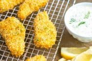 Crispy Flaky Homemade Fish Sticks Recipe