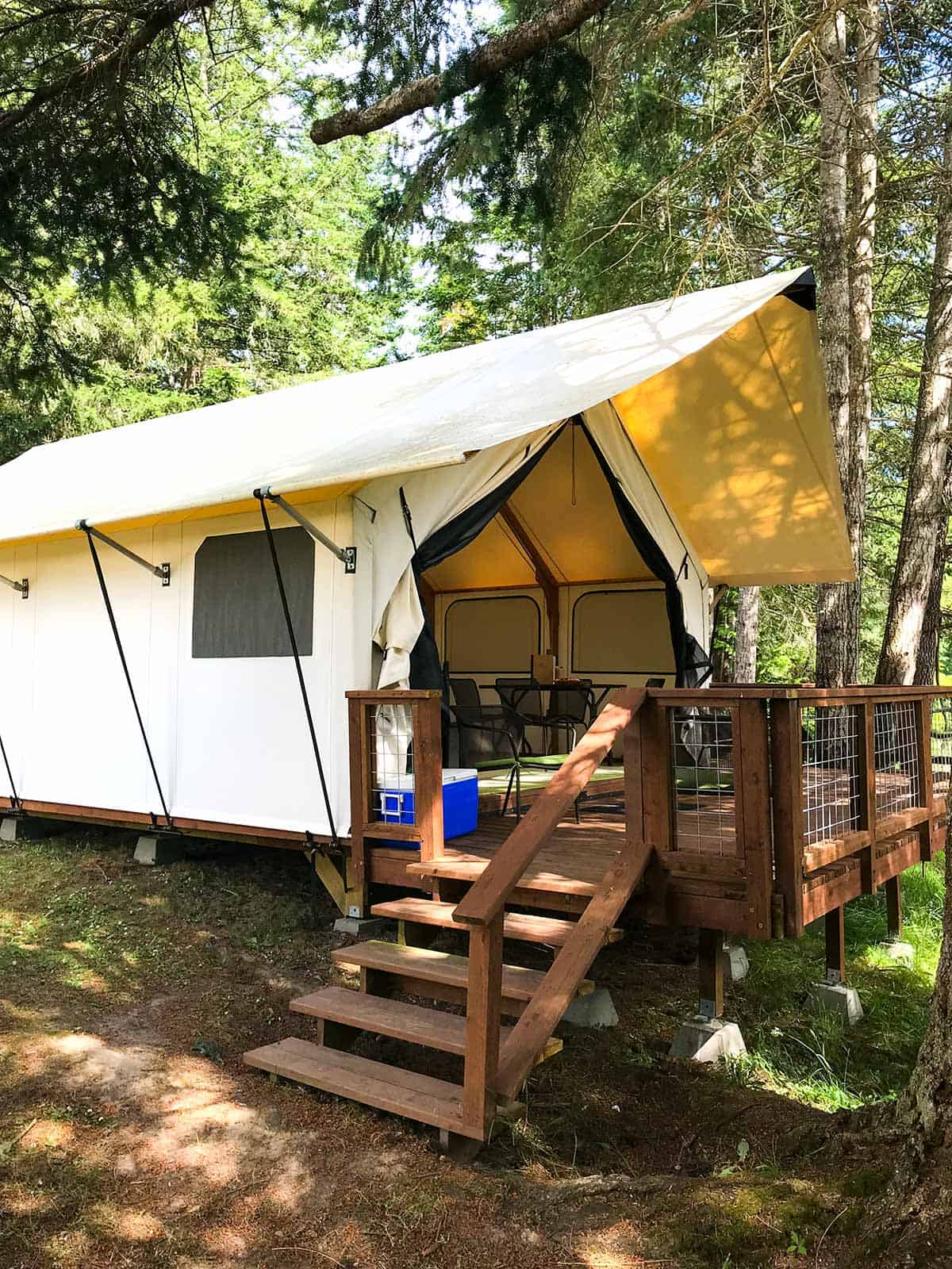 Glamping on San Juan Island, Washington