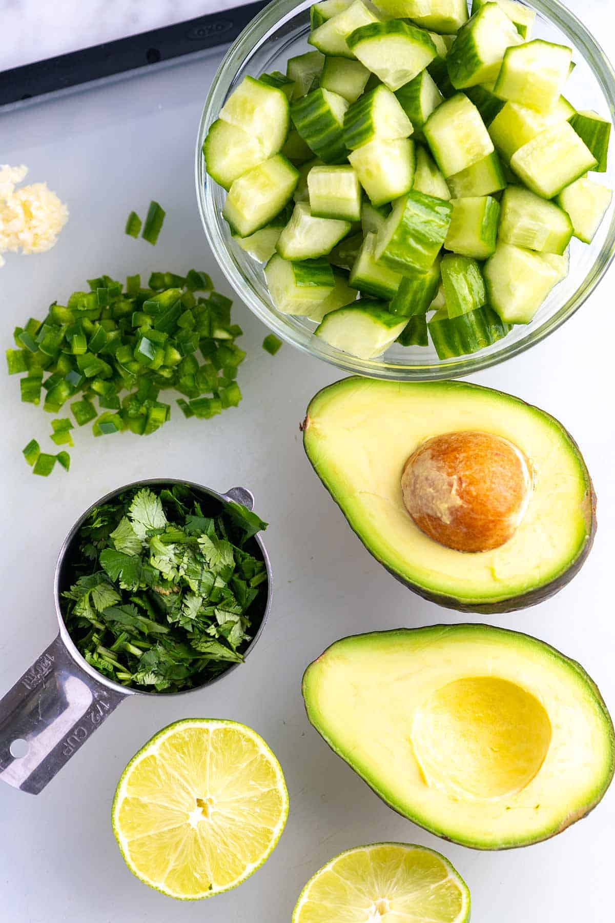 This salad combines fresh, ripe avocados, crisp cool cucumbers, and a light lime dressing. If you love guacamole, then you will love this easy avocado salad.