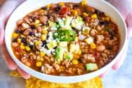 Easy Weeknight Taco Soup Recipe