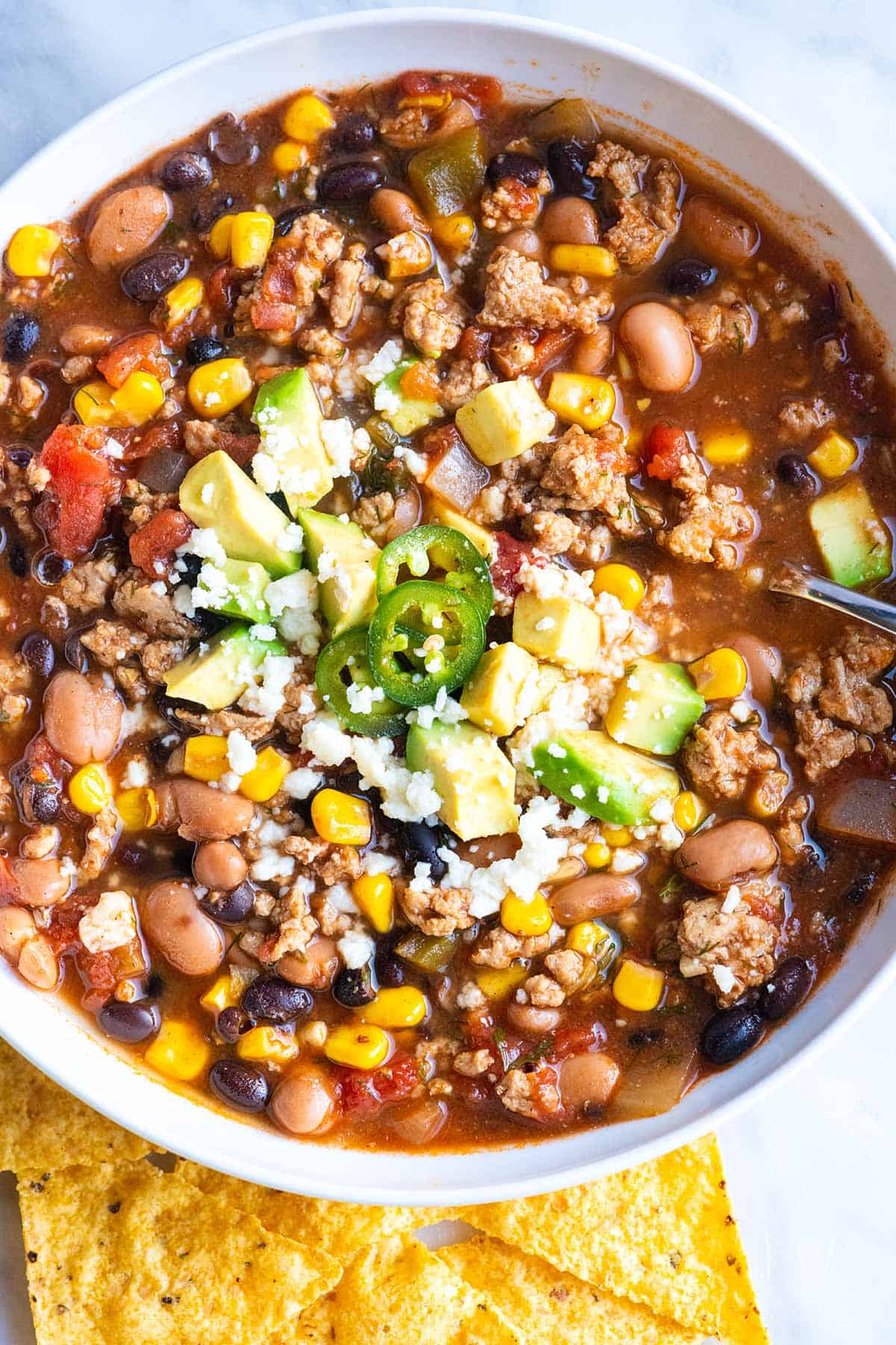 Quick and Easy Taco Soup Recipe with Stovetop, Instant Pot, and Slow Cooker Instructions