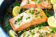 Garlic Caper Butter Baked Salmon Recipe Video