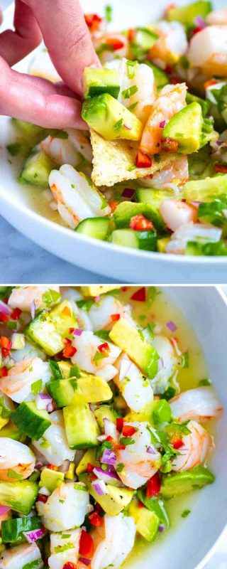 Fresh and Easy Shrimp Ceviche Recipe - Inspired Taste