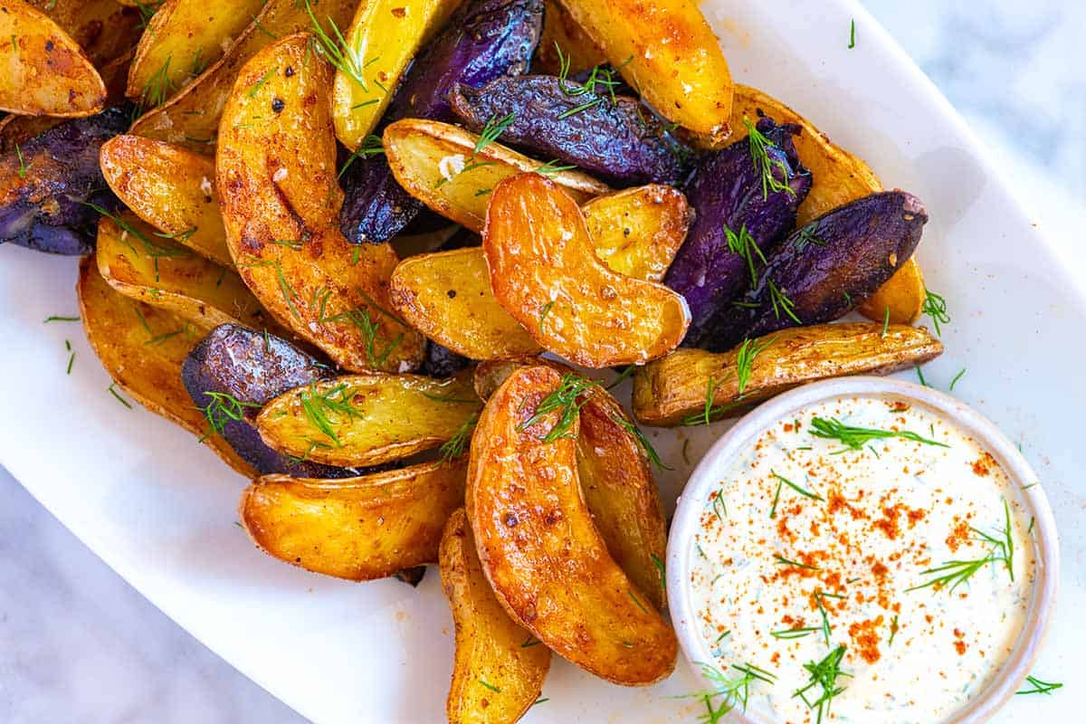 Roasted Fingerling Potatoes with Craveable Sauce
