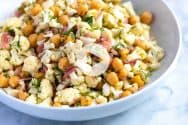 Herby Raw Cauliflower Salad Recipe