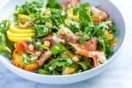 Lemony White Bean Salad Recipe with Prosciutto and Arugula