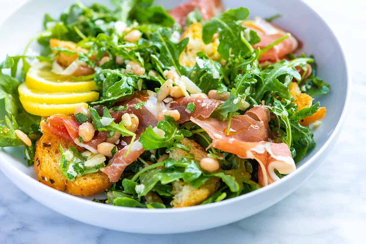 Lemony White Bean Salad with Prosciutto