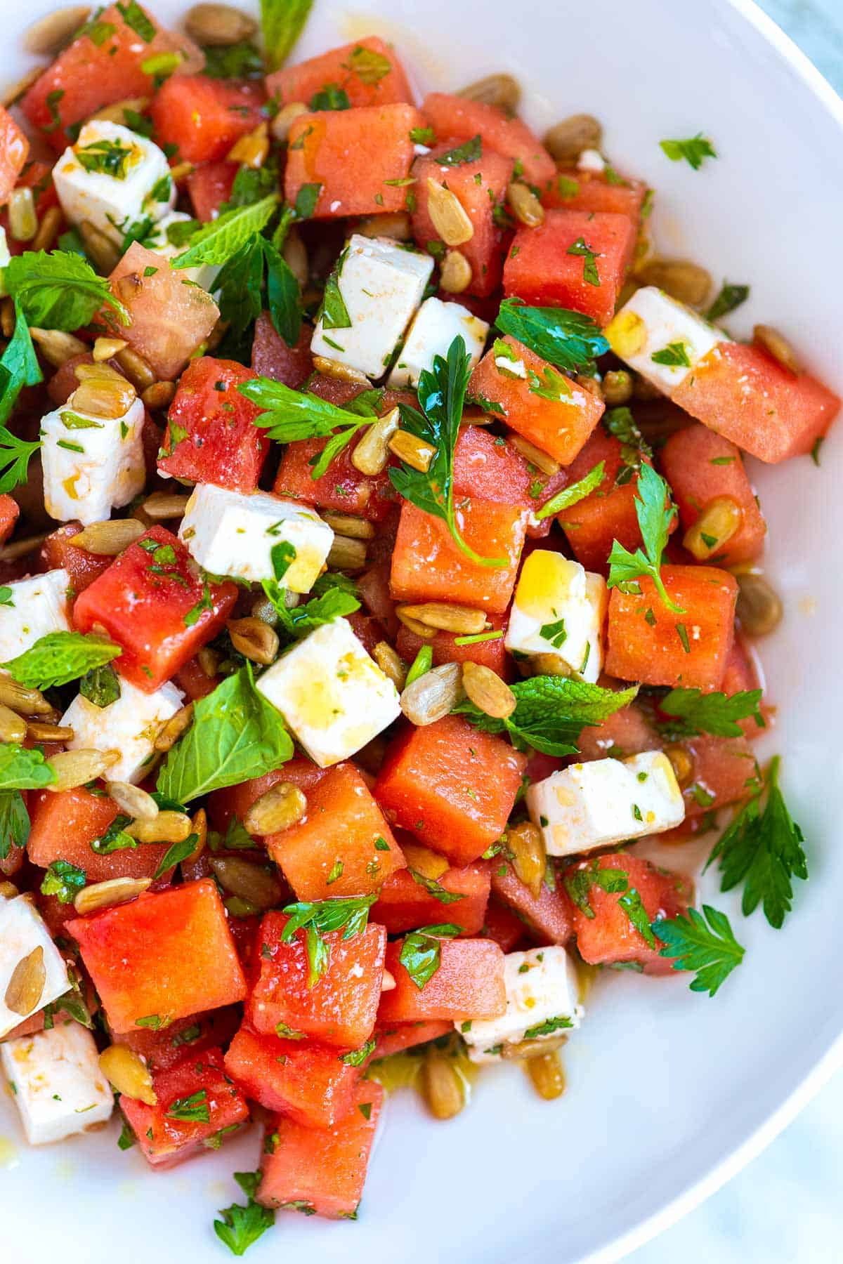 Watermelon Salad with Feta Cheese