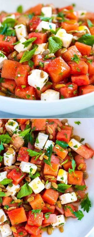Watermelon Salad Recipe with Feta - Inspired Taste
