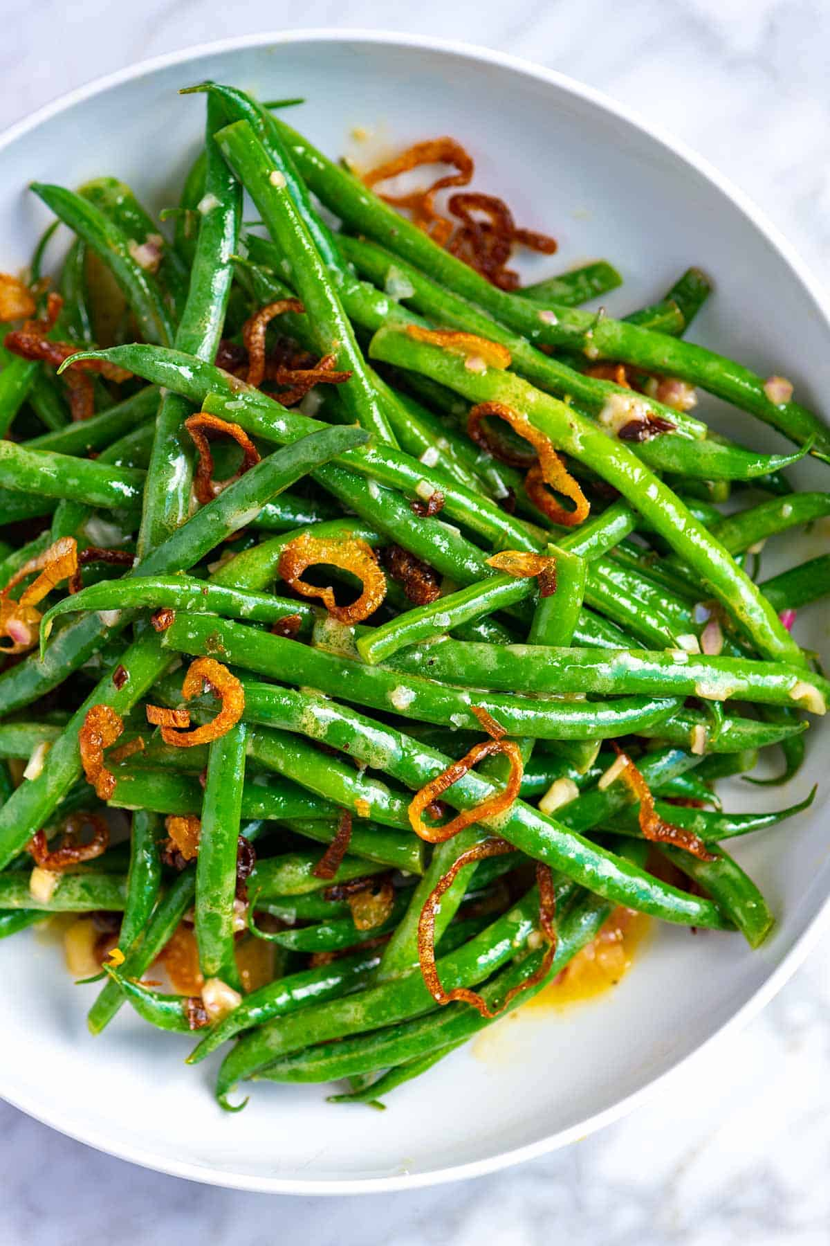 Green Bean Salad with Crispy Shallots