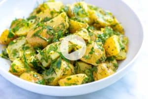 How to Make Herb Potato Salad (mayo free)