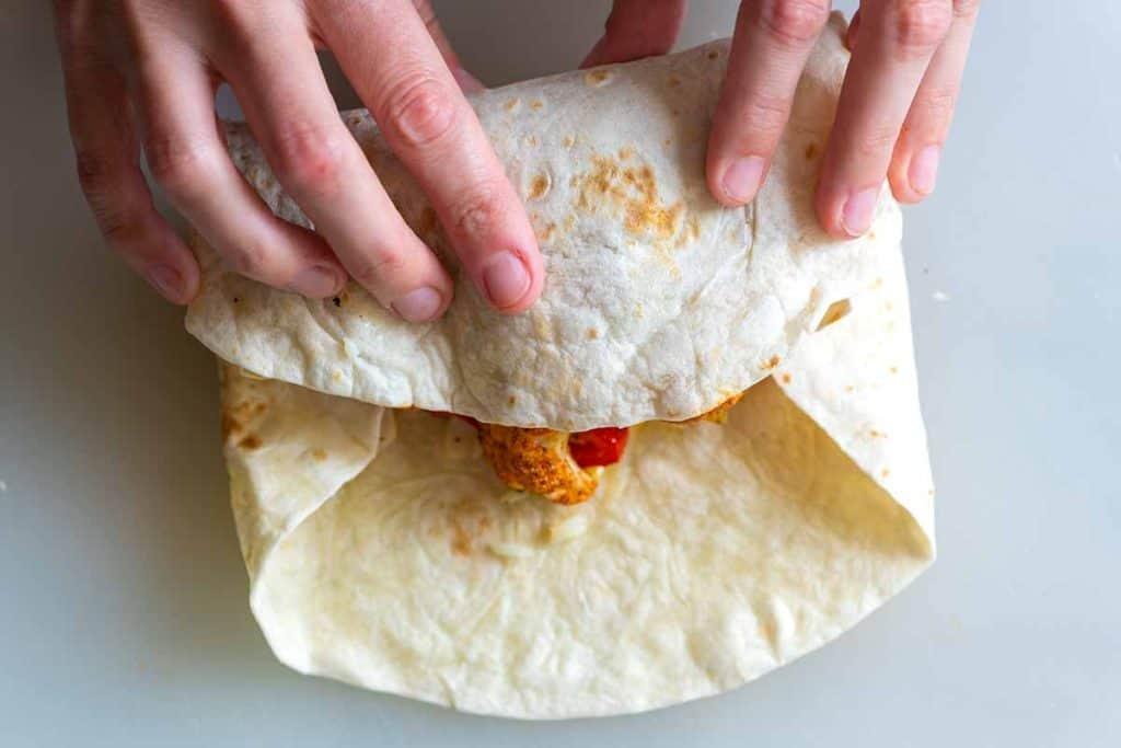 Cómo doblar un burrito // Burritos vegetarianos