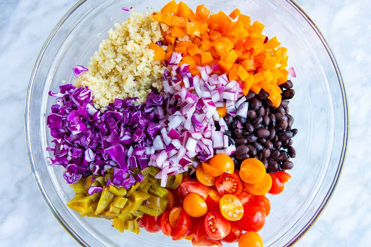 Black Bean and Quinoa Salad Ingredients