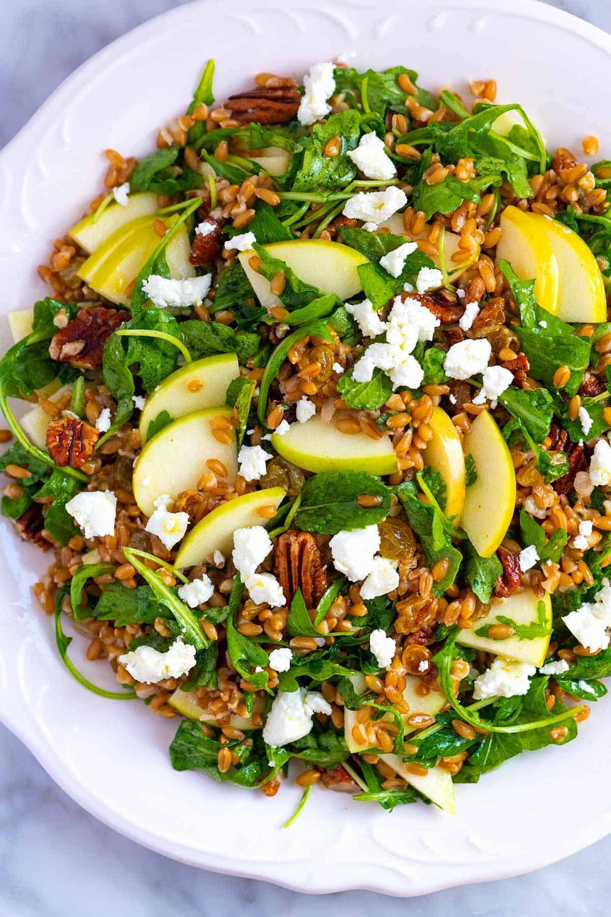Farro Salad Recipe with Apples and Arugula