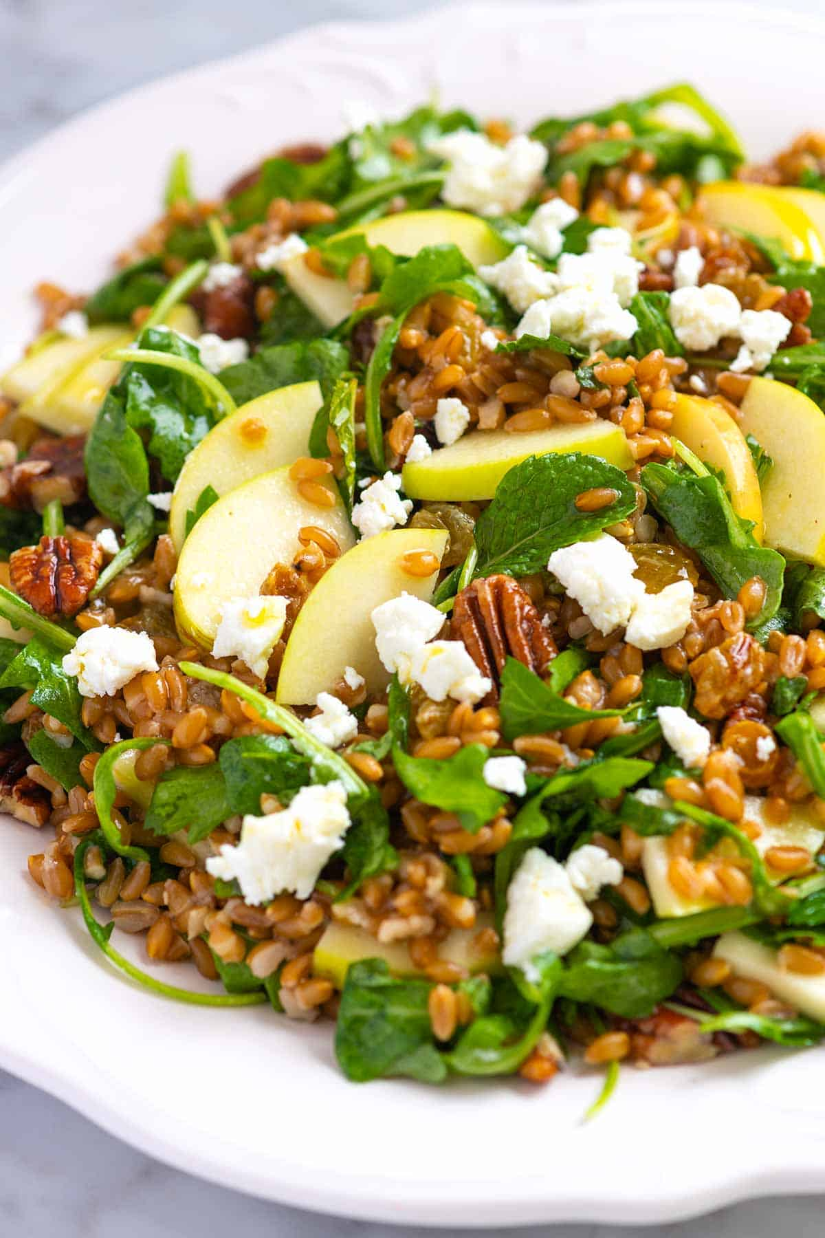 Farro Salad with Apples and Arugula