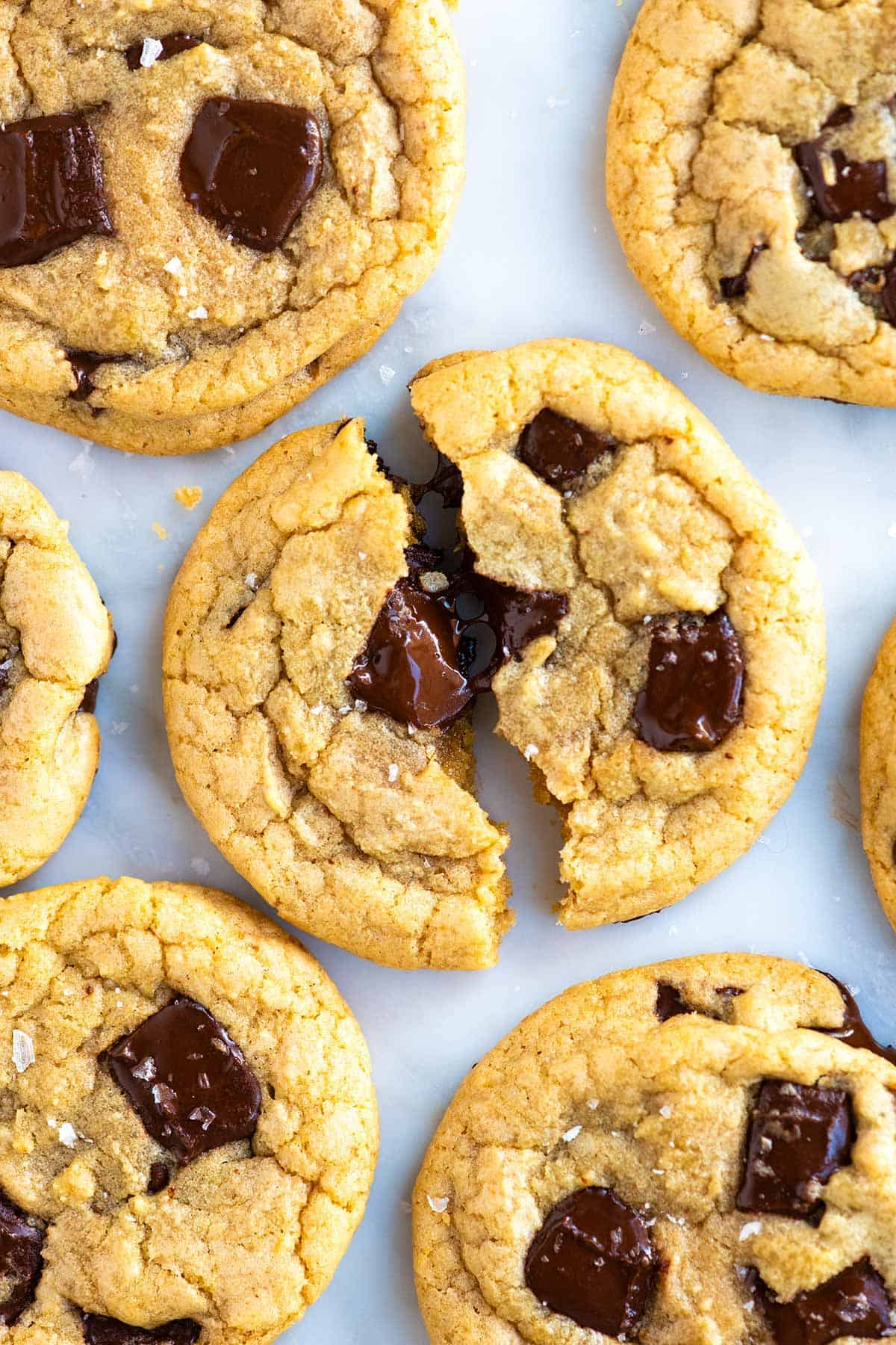 Melted butter is the secret to making quick and easy chocolate chip cookies!