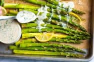 Easy Garlic Roasted Asparagus Recipe