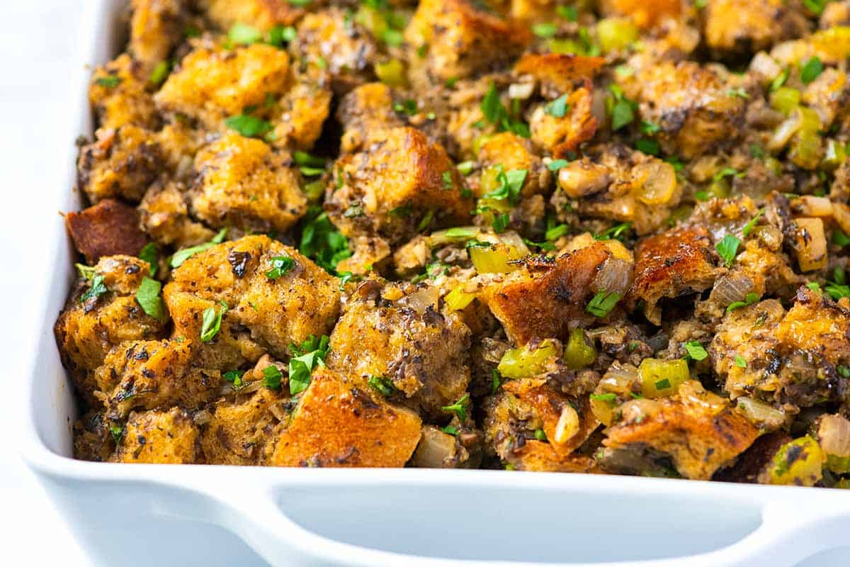 Seriously Good Mushroom Stuffing Recipe (Vegetarian and Vegan)