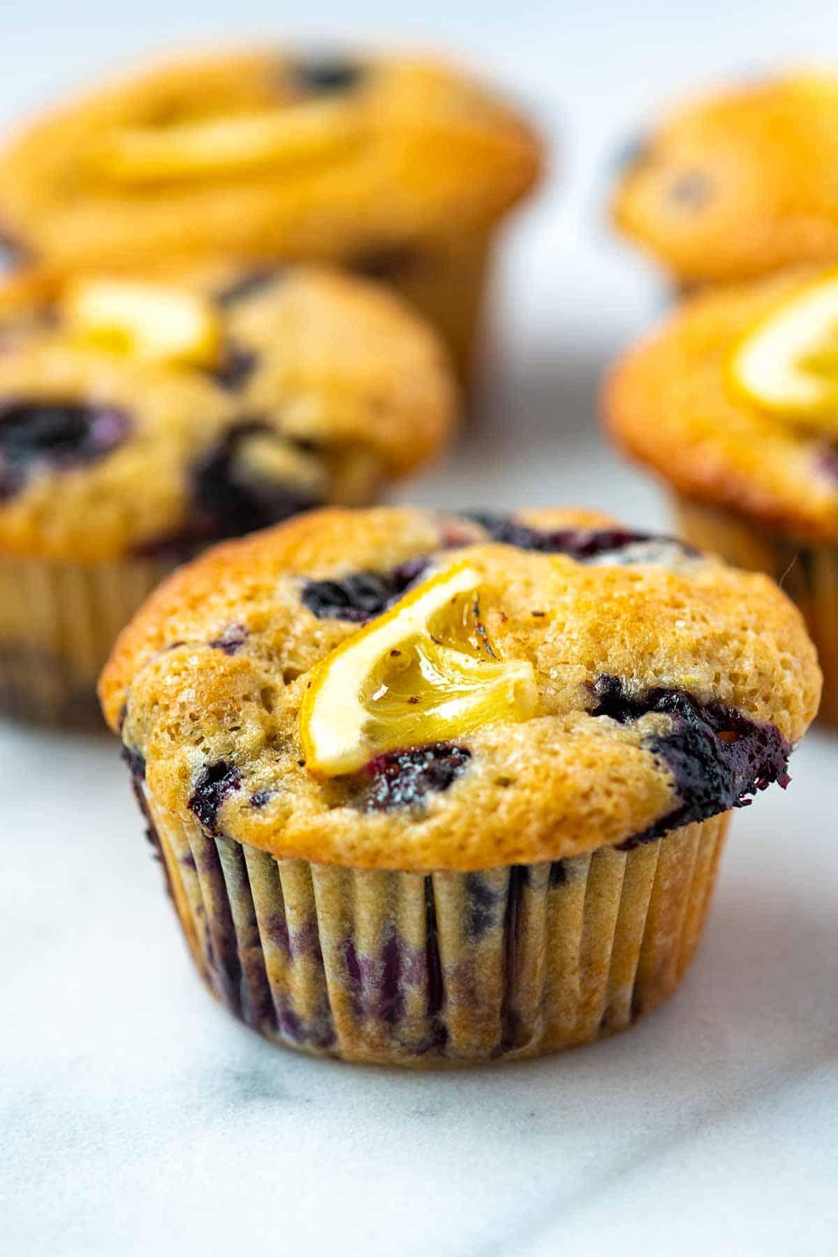 Easy Lemon Blueberry Muffins