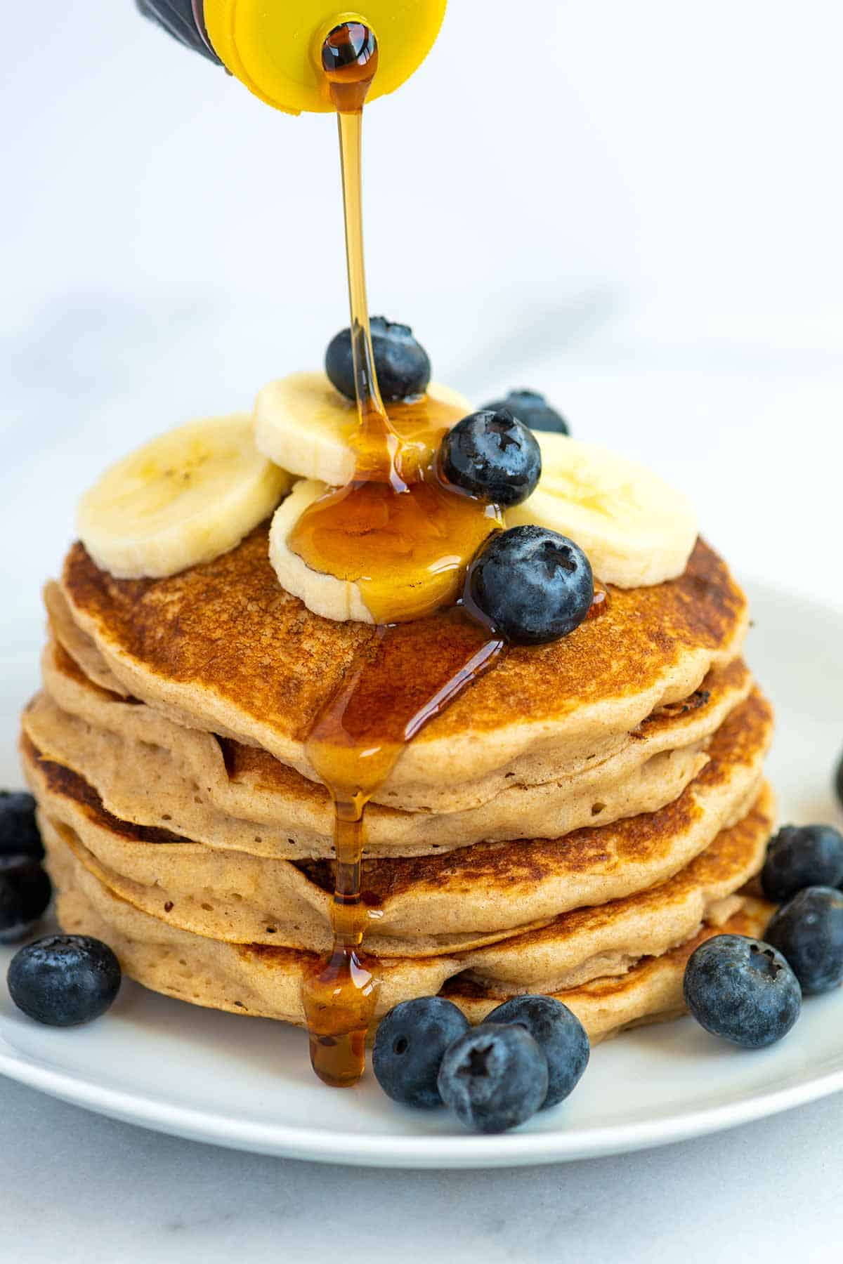 Serving Vegan Pancakes