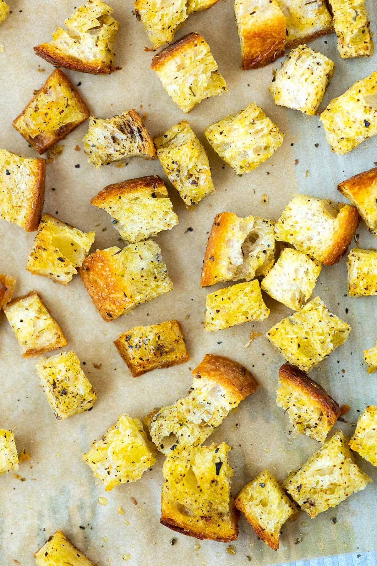 Freshly Baked Homemade Croutons