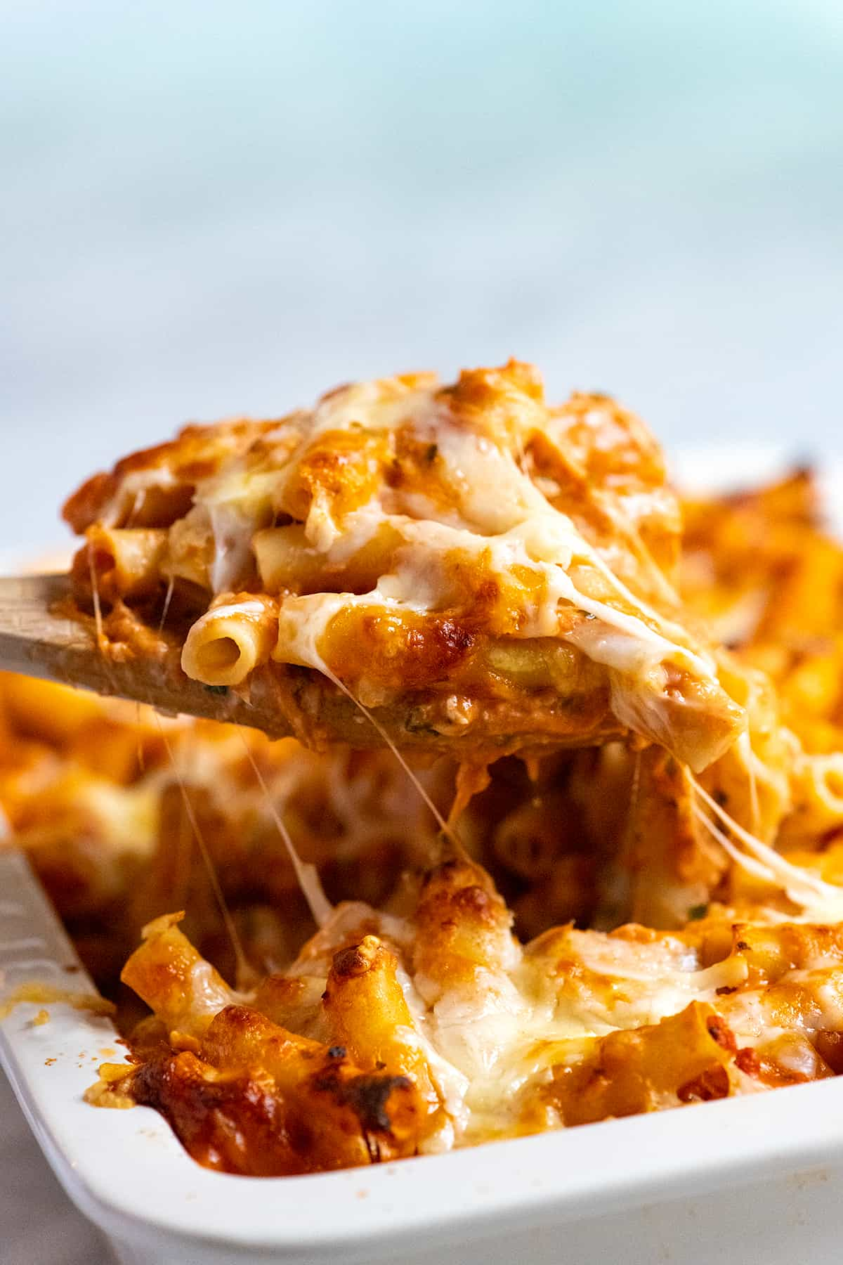 Serving baked ziti