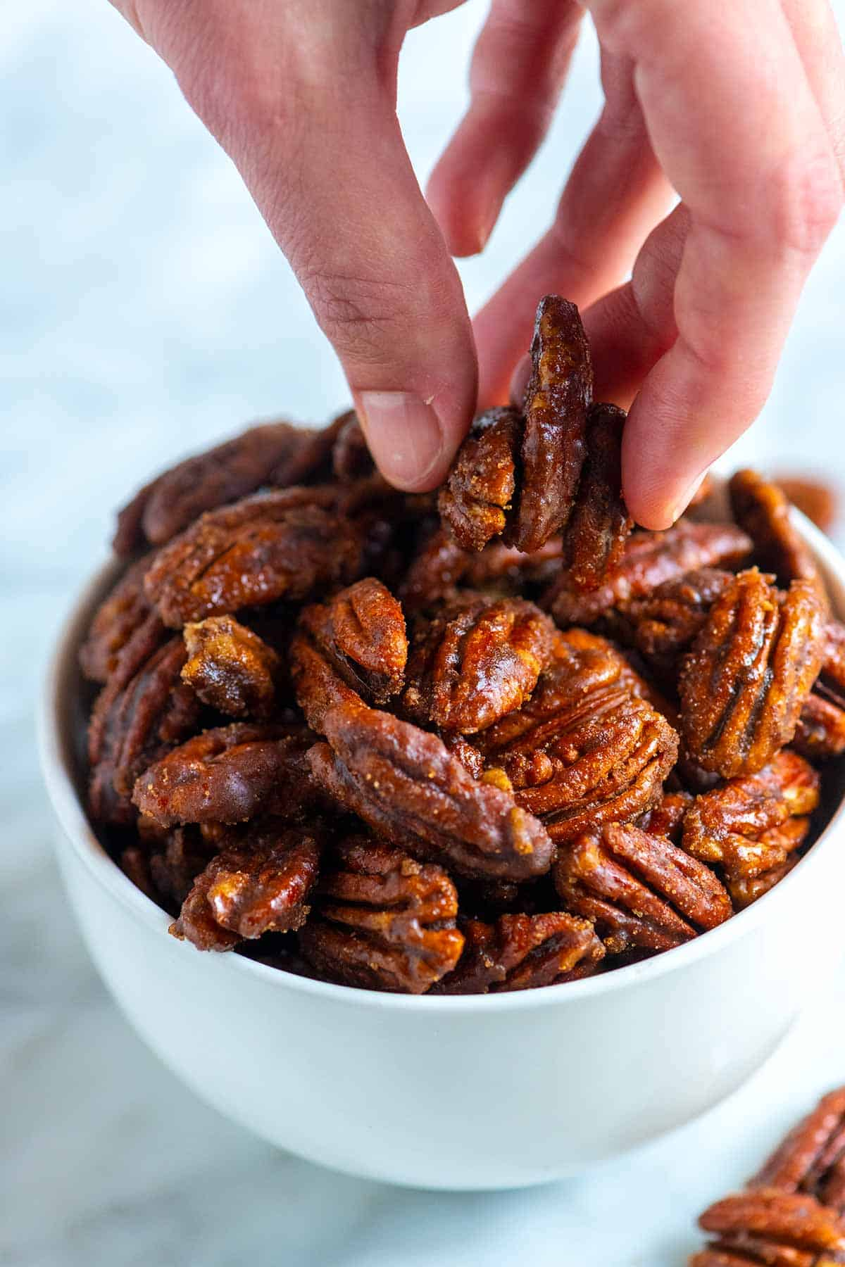 Candied Pecans with a brown sugar coating