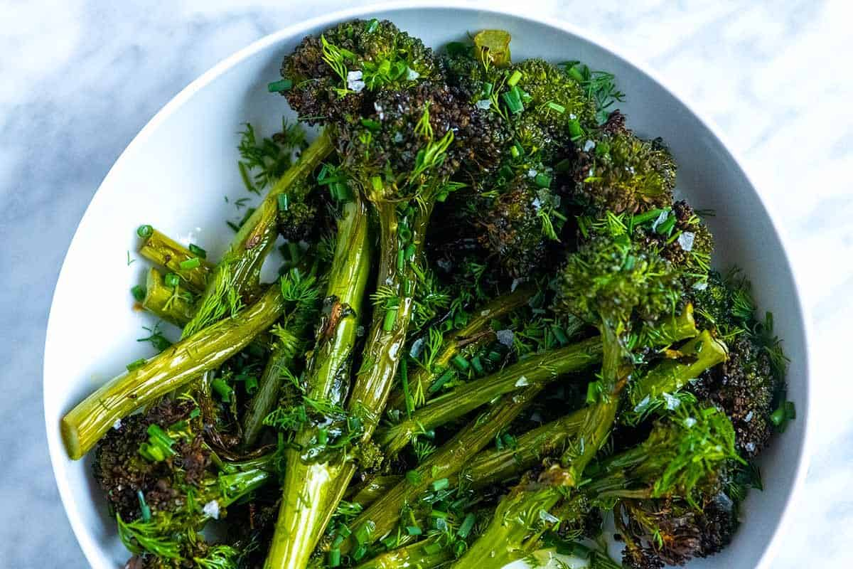 Crispy Roasted Broccolini with Herbs