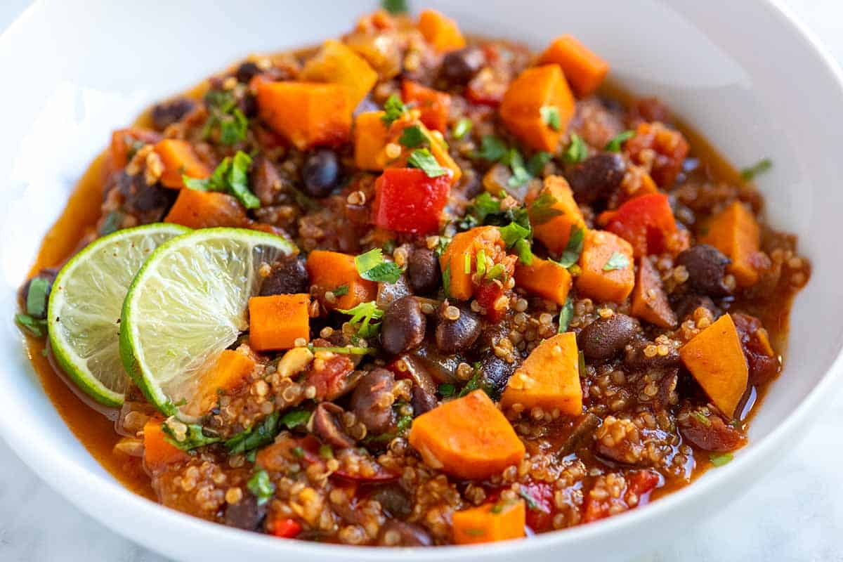 Homemade Vegetarian Quinoa Chili