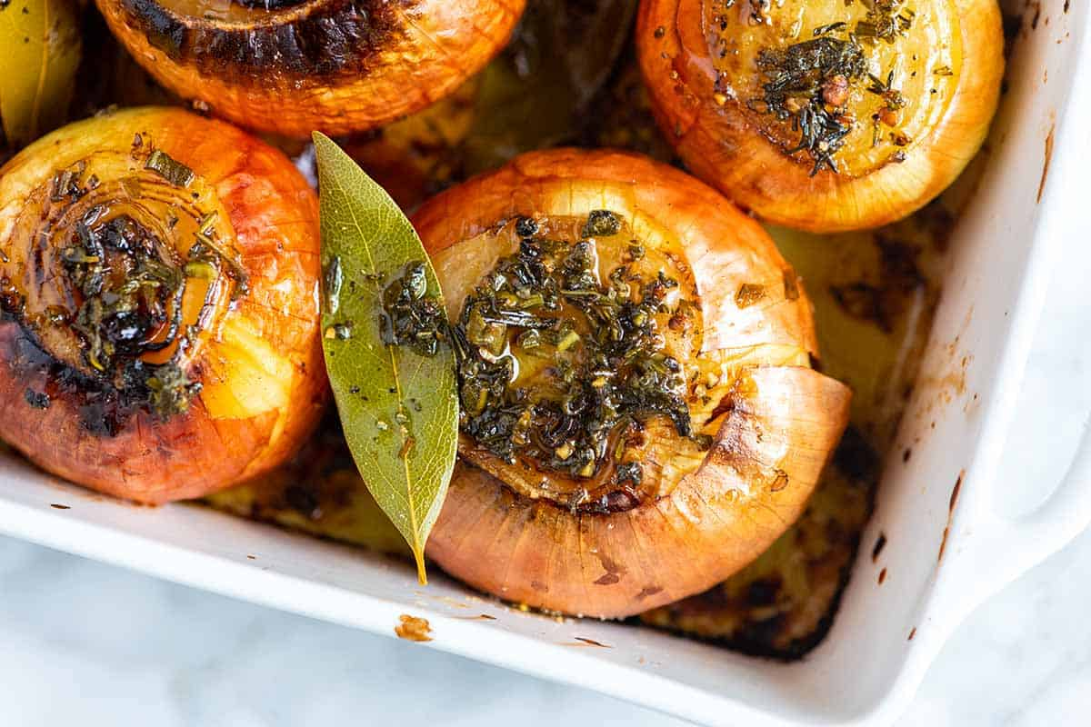 Whole Roasted Onions with Butter and Herbs